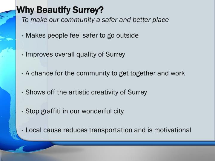 Why Beautify Surrey?