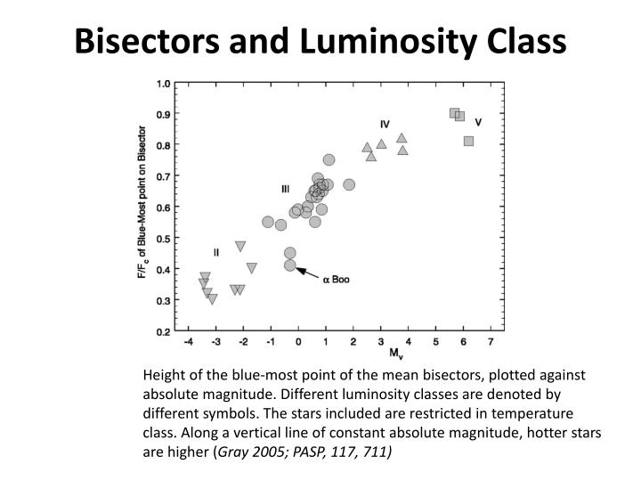 Bisectors and Luminosity Class