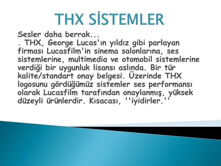 THX SSTEMLER