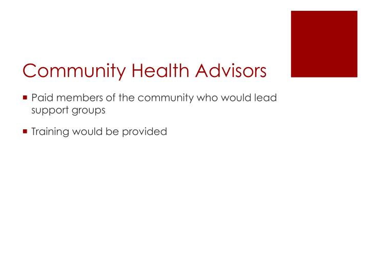 Community Health Advisors