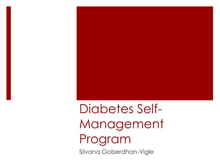 Diabetes self management program