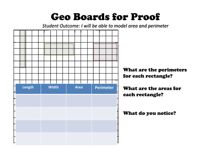 Geo Boards for Proof