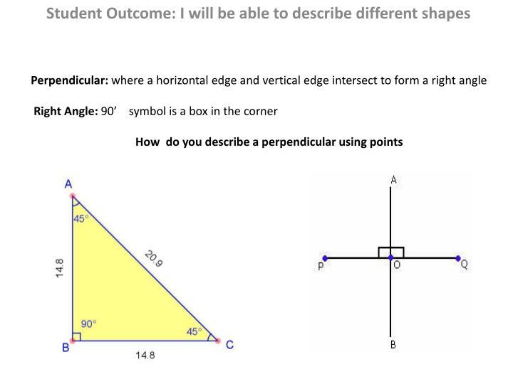 Perpendicular: