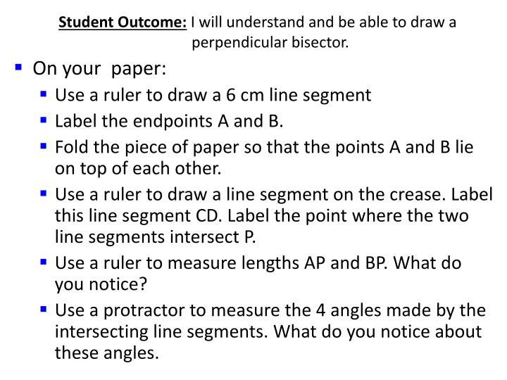 Student Outcome: