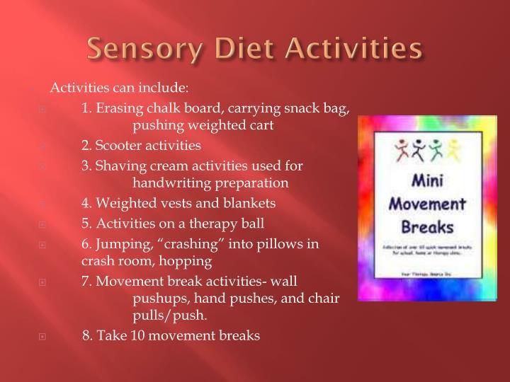 Sensory Diet Activities