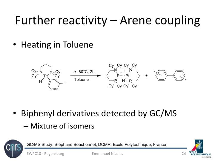 Further reactivity – Arene coupling
