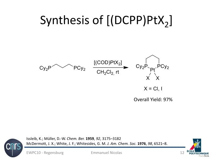 Synthesis of [(DCPP)PtX