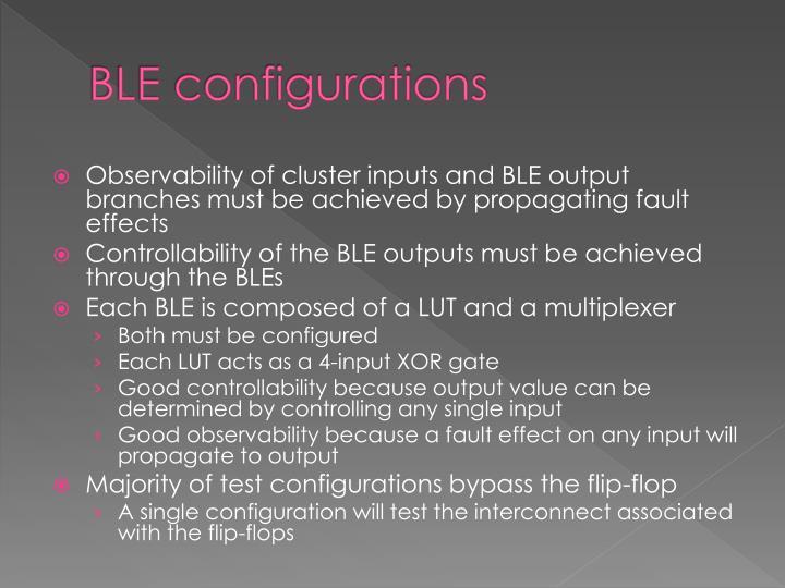 BLE configurations