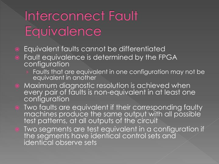 Interconnect Fault Equivalence