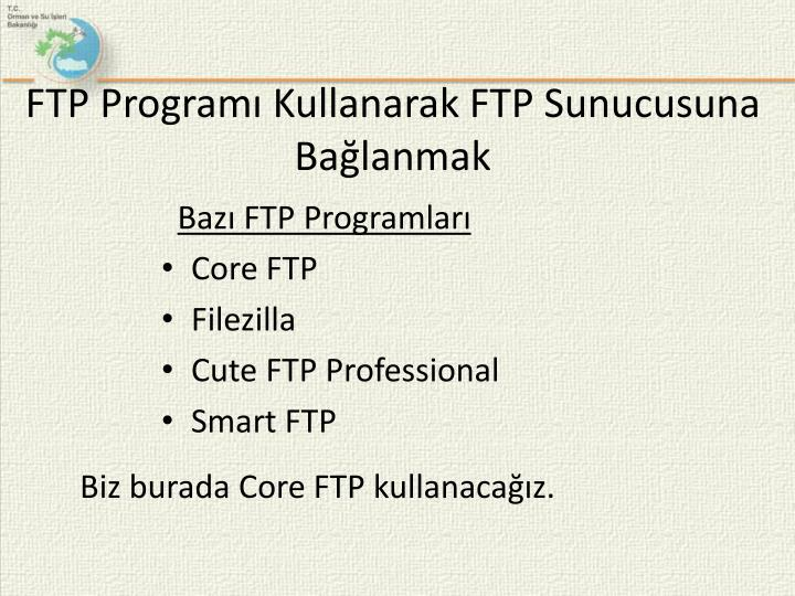 FTP Programı Kullanarak FTP