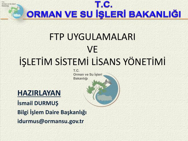 Ftp uygulamalari ve let m s stem l sans y net m