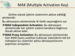 mak multiple activation key