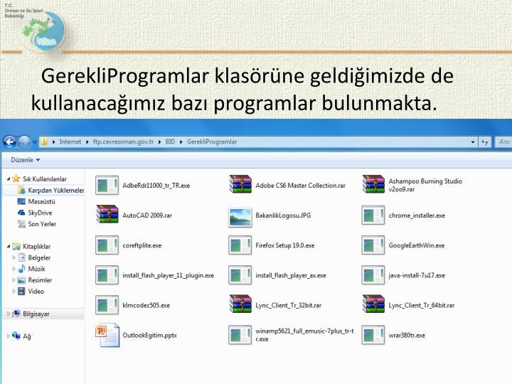 GerekliProgramlar
