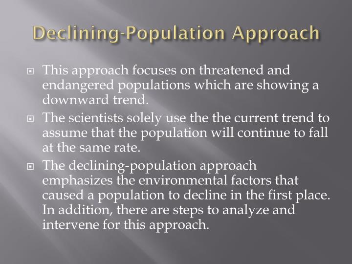 Declining-Population Approach