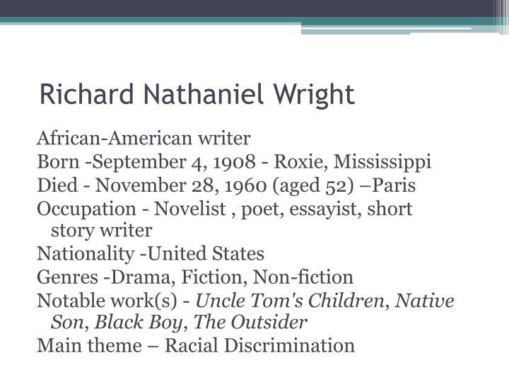 Richard Nathaniel Wright