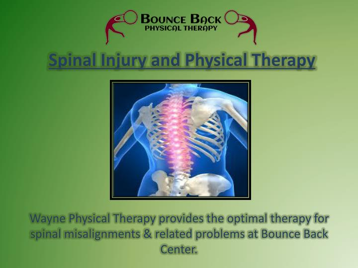 Spinal Injury and Physical Therapy