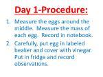 day 1 procedure