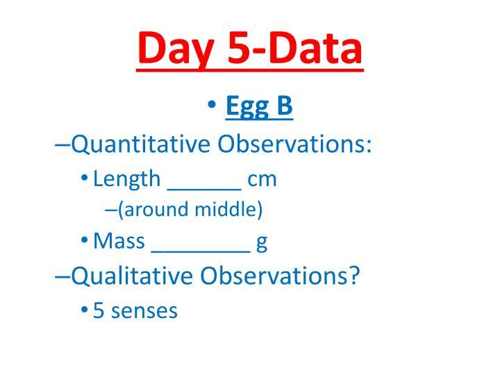 Day 5-Data