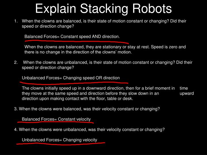 Explain Stacking Robots