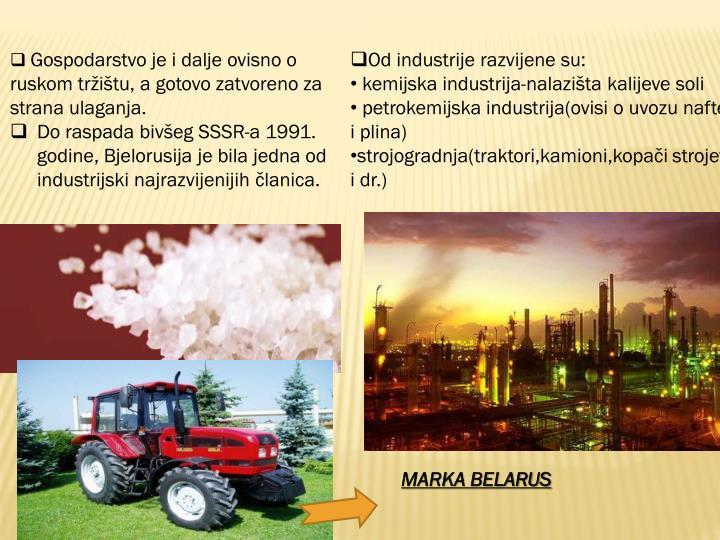 Gospodarstvo je i dalje ovisno o ruskom tržištu, a gotovo zatvoreno za strana ulaganja.