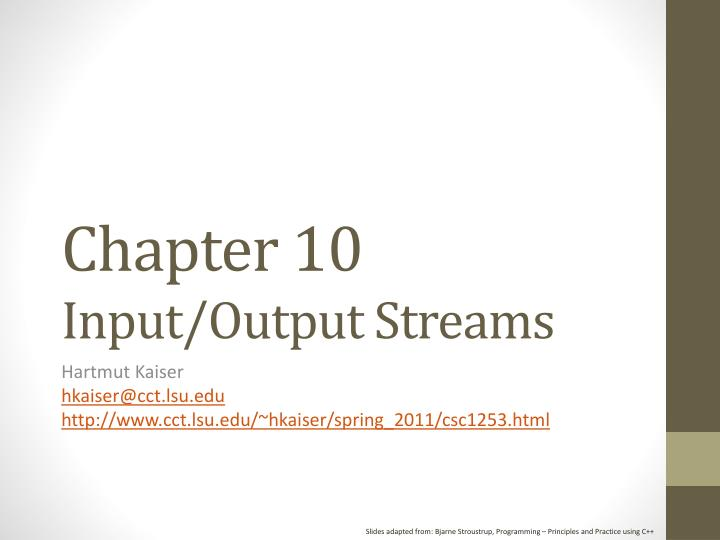 Chapter 10 input output streams