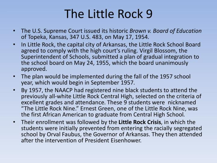 The Little Rock 9