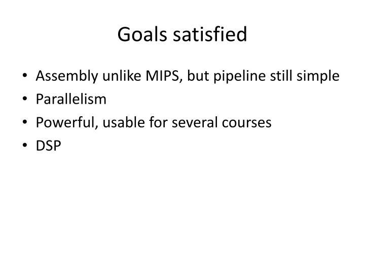 Goals satisfied