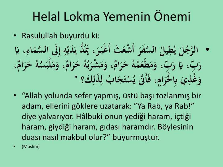 Helal Lokma Yemenin nemi