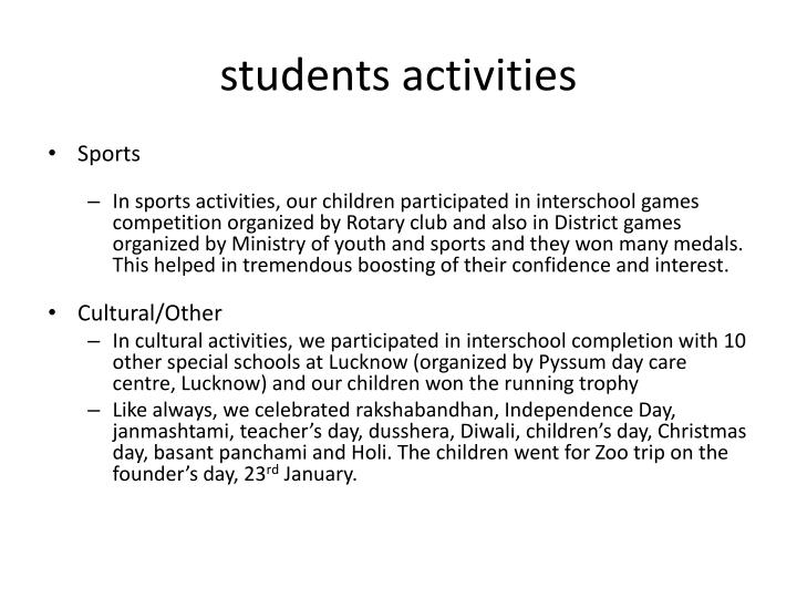 students activities