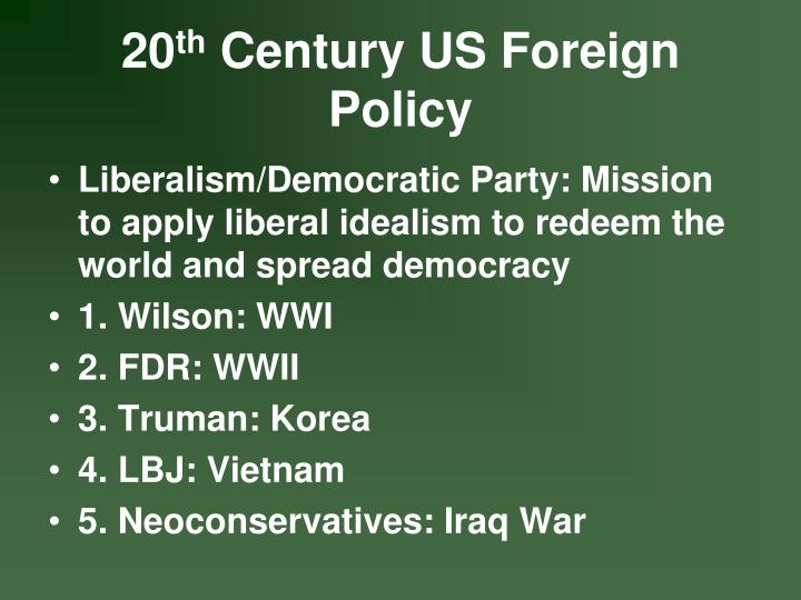 20 th century us foreign policy