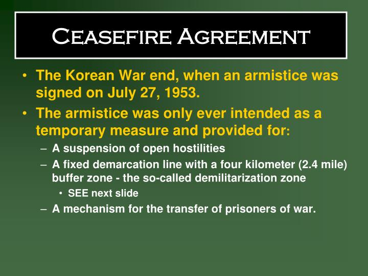 Ceasefire Agreement