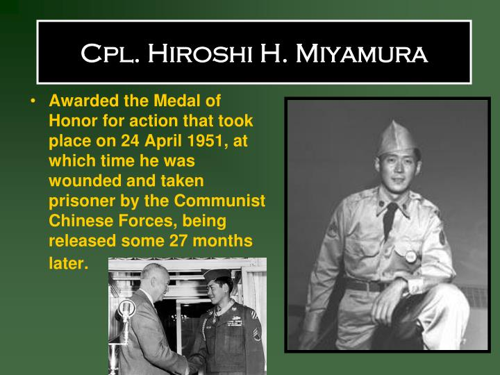 Cpl. Hiroshi H. Miyamura