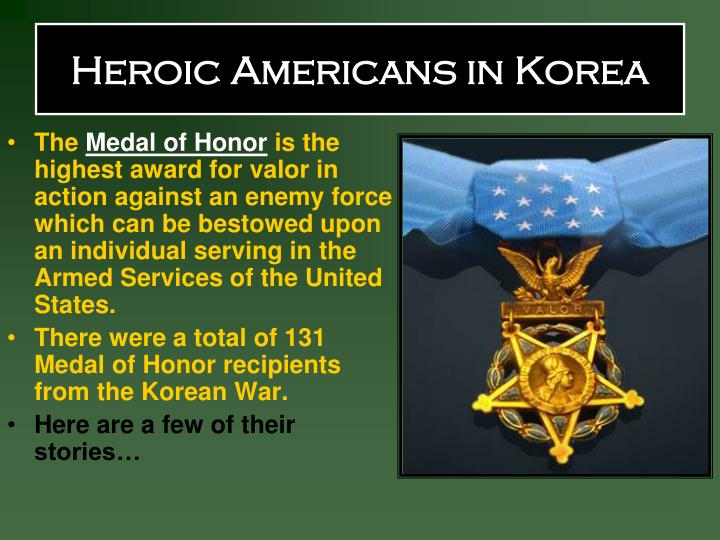 Heroic Americans in Korea