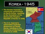 korea 1945