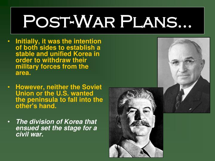 Post-War Plans…