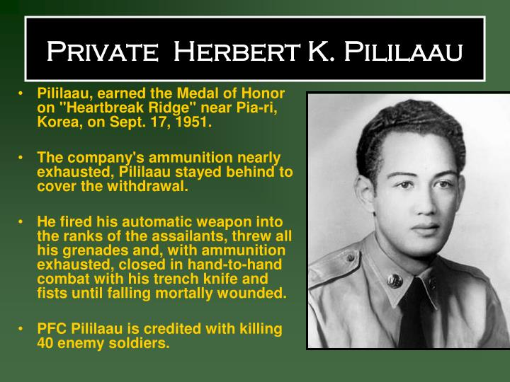 Private  Herbert K. Pililaau