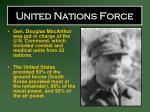 united nations force