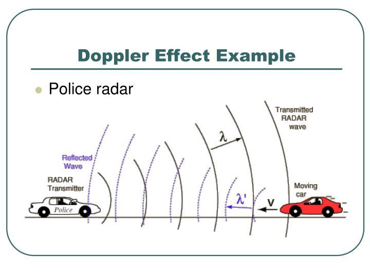 Doppler Effect Example