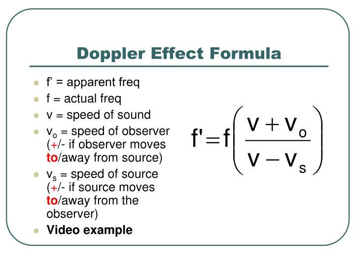 Doppler Effect Formula