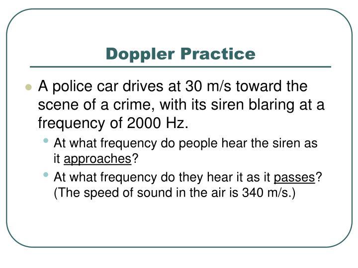 Doppler Practice