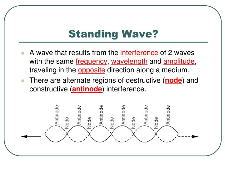 Standing Wave?