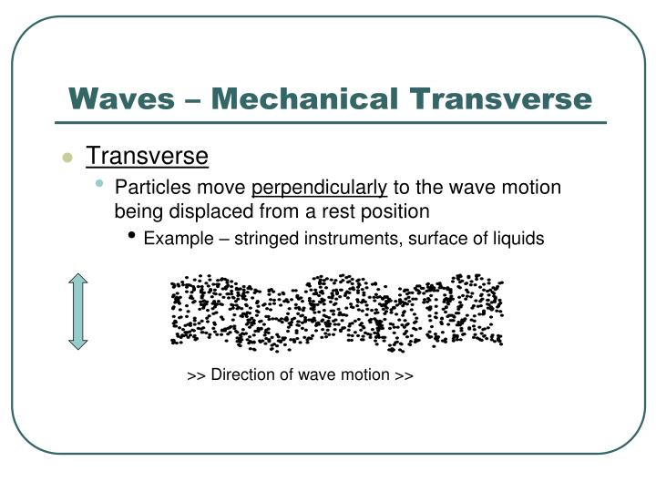 Waves – Mechanical Transverse