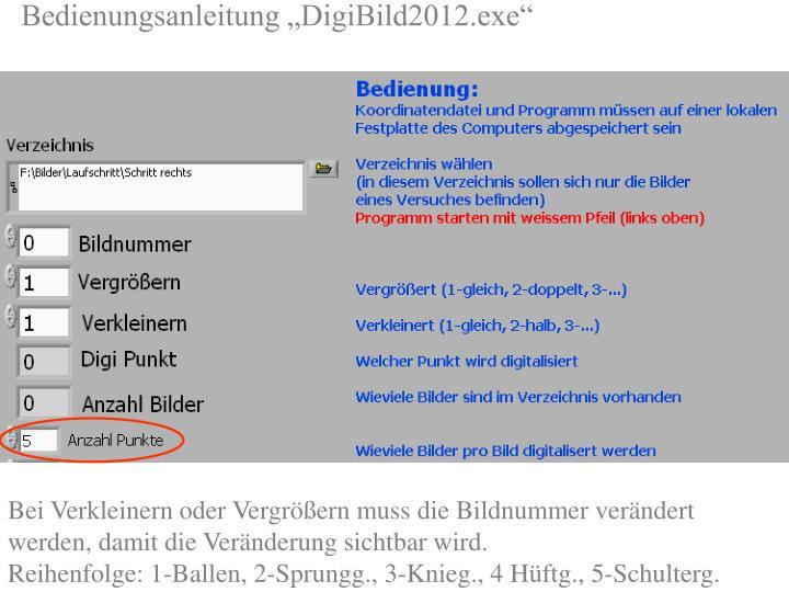 """Bedienungsanleitung """"DigiBild2012.exe"""""""