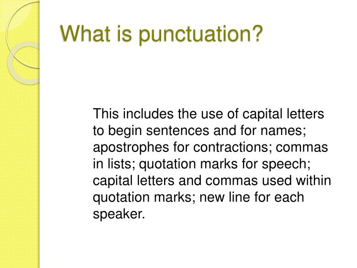 What is punctuation