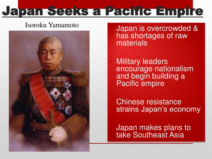 Japan Seeks a Pacific Empire