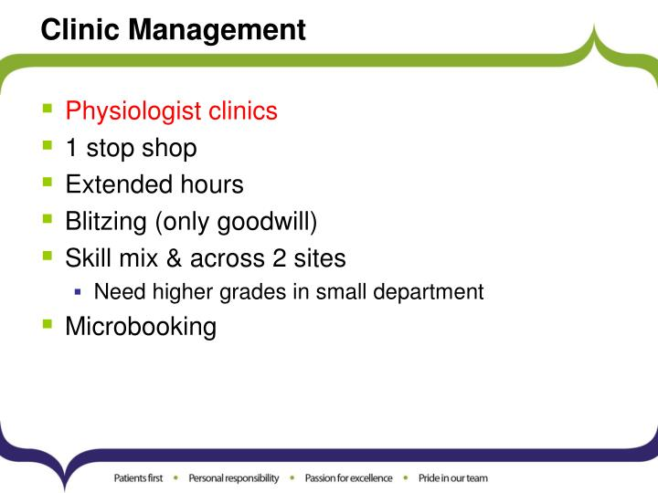 Clinic Management