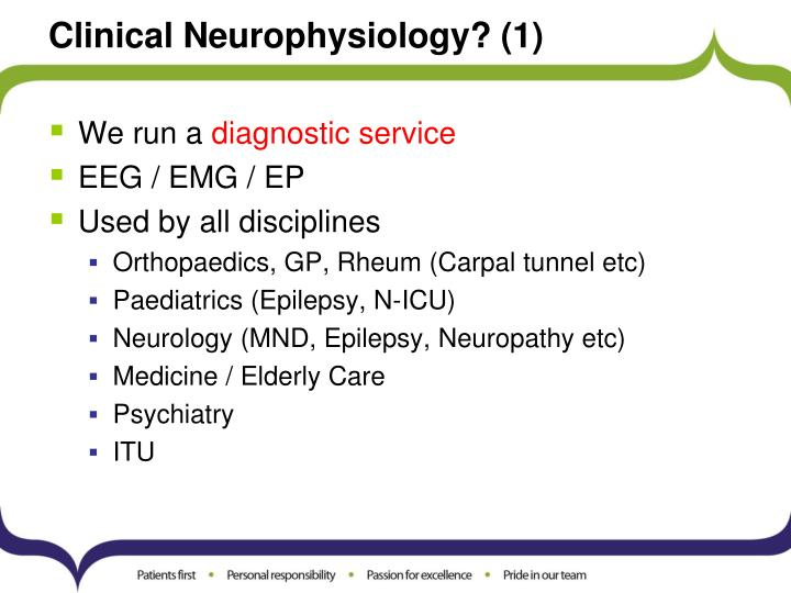 Clinical neurophysiology 1