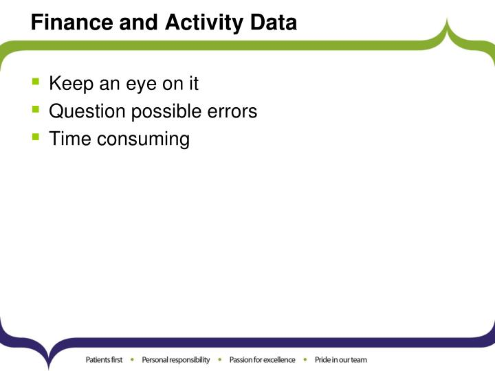 Finance and Activity Data