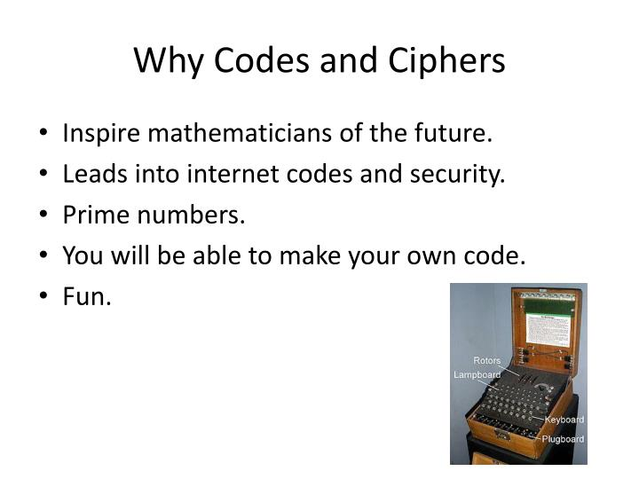 Why Codes and Ciphers