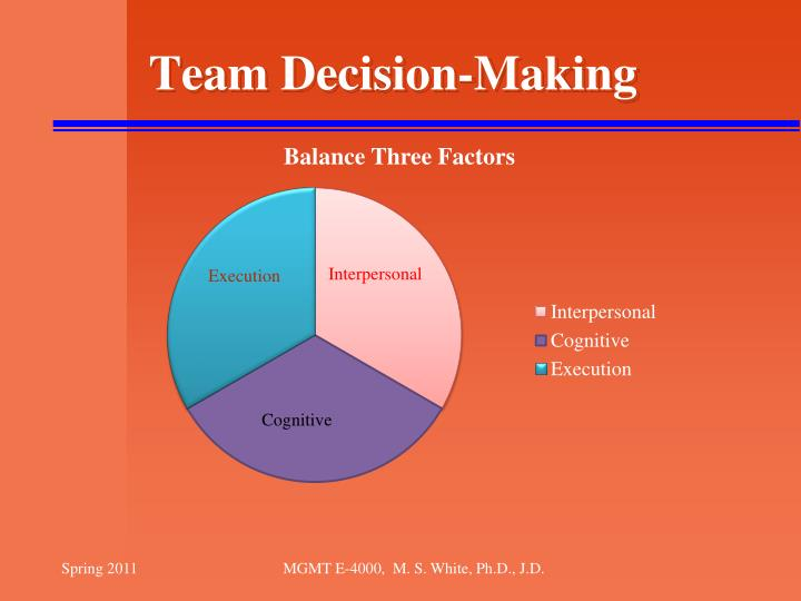 Team decision making